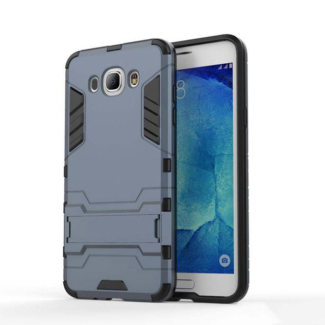 Samsung Galaxy J7 2016 Back Cover Hybrid Shock Proof Armor Hard Back Case (Blue)