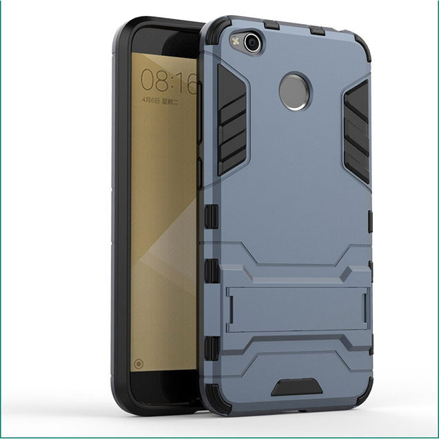 Xiaomi Redmi 4 Back Cover Hybrid Shock Proof Armor Hard Back Case (Blue)