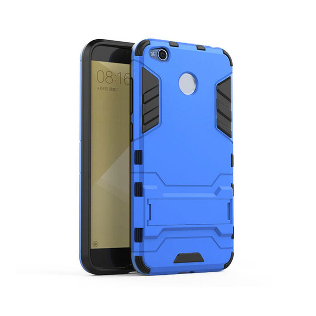 Xiaomi Redmi 4 Back Cover Hybrid Shock Proof Armor Hard Back Case (Deep Blue)