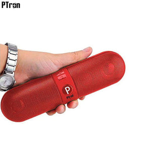 PTron Streak Multifunctional Metal Pill Wireless Bluetooth Speaker For All LG Smartphones (Red)