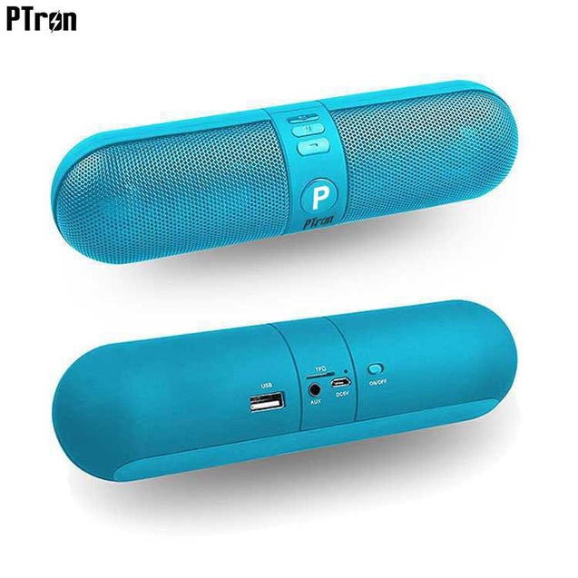 PTron Streak Multifunctional Metal Pill Wireless Bluetooth Speaker For Samsung Galaxy J7 Prime Blue