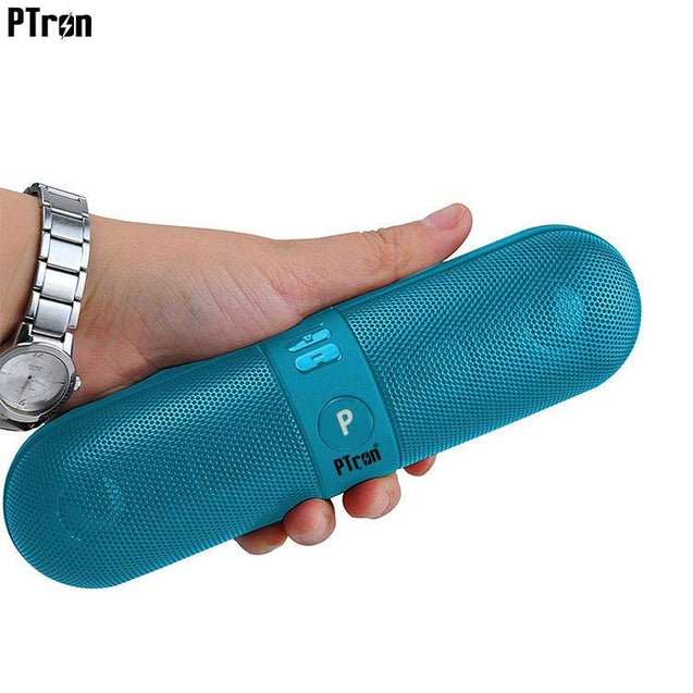 PTron Streak Multifunctional Metal Pill Wireless Bluetooth Speaker For Xiaomi Redmi Note 5 Pro Blue