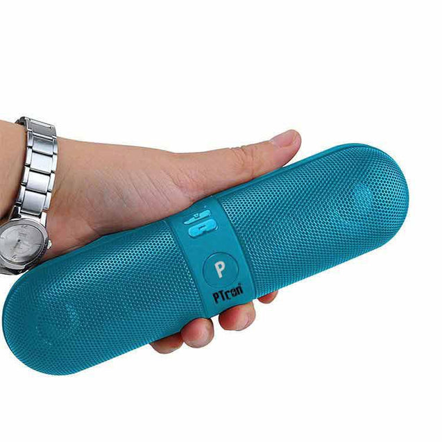 PTron Streak Multifunctional Metal Pill Wireless Bluetooth Speaker For Xiaomi Redmi Note 5 (Blue)