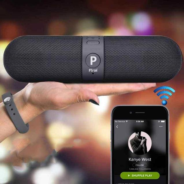 Buy PTron Streak Portable Bluetooth Speaker, Get Falcon 1.5A Micro USB Charging Cable Free