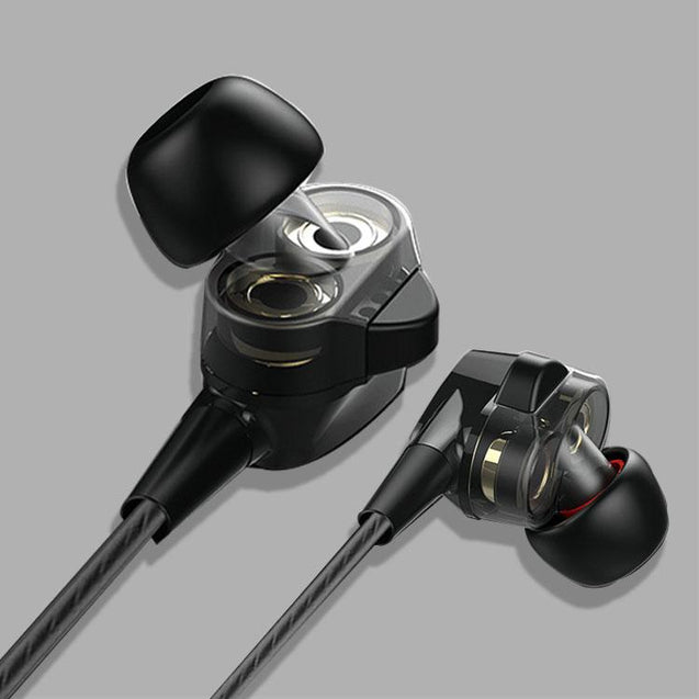 PTron Boom 4D Earphone Deep Bass Stereo Wired Headphone With Mic For Xiaomi Redmi Note 5 Gold/Black