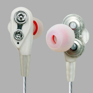 PTron Boom 4D Earphone Deep Bass Stereo Wired Headphone With Mic For Nokia 1 (White/Silver)