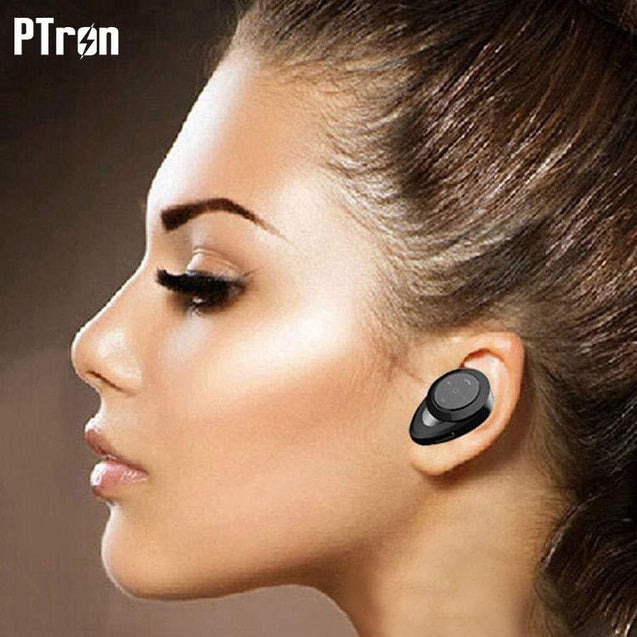 PTron Lynx Premium Quality Wireless Mini Bluetooth Headset (Black)