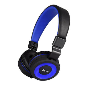 PTron Mamba Stereo Wired Headphone with Mic For All Smartphones (Black/Blue)