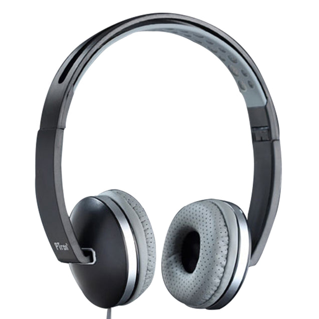 PTron Rebel Stereo Wired Headphone with Mic For All Smartphones (Black/Grey)
