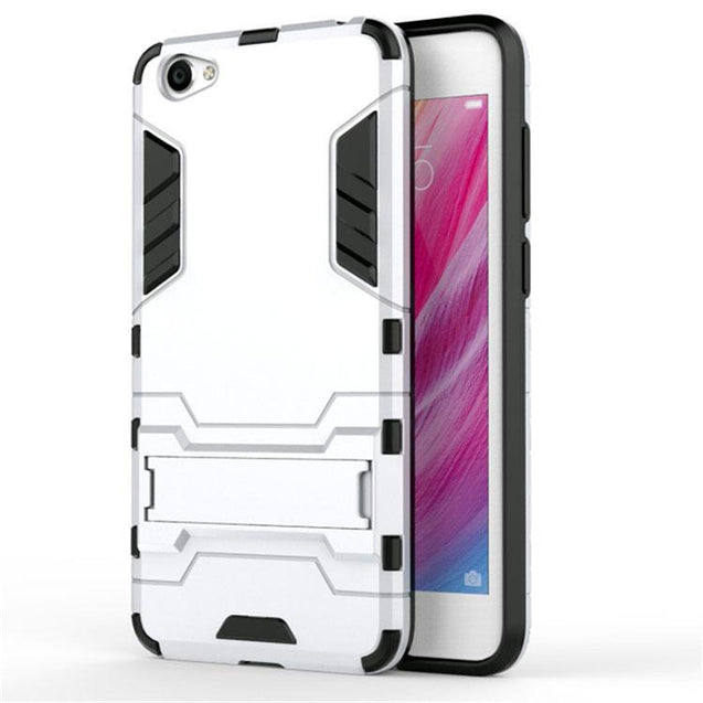 Vivo Y66 Back Cover Shockproof Armor Hard Back Case (Silver)