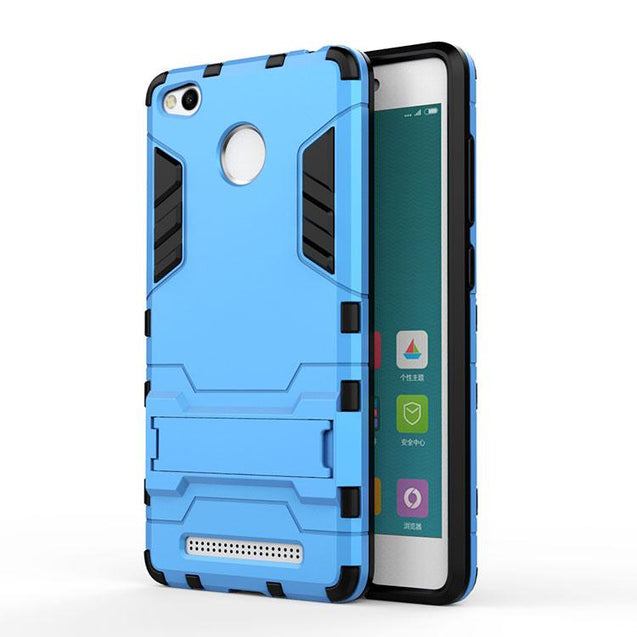 Xiaomi Redmi 3s Back Cover Shockproof Armor Hard Back Case (Deep Blue)