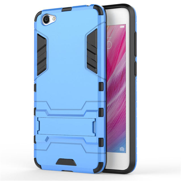 Vivo V5 Back Cover Shockproof Armor Hard Back Case (Deep Blue)