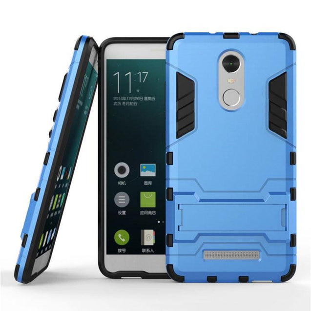 Xiaomi Redmi Note 3 Back Cover Hybrid Shock Proof Armor Hard Back Case (Deep Blue)