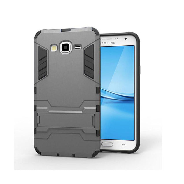 Samsung Galaxy J7 2015 Back Cover Shockproof Armor Hard Back Case (Grey)