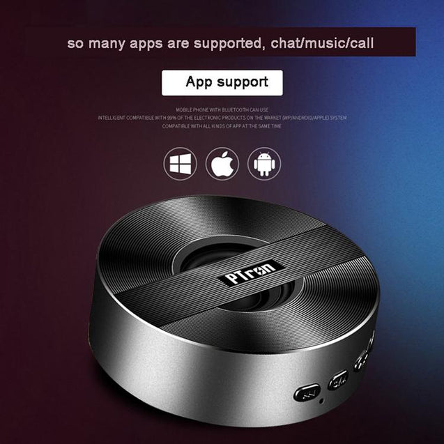 PTron Musicbot Mini Portable Bluetooth Speaker With TF, USB Support For All Smartphones (Black)