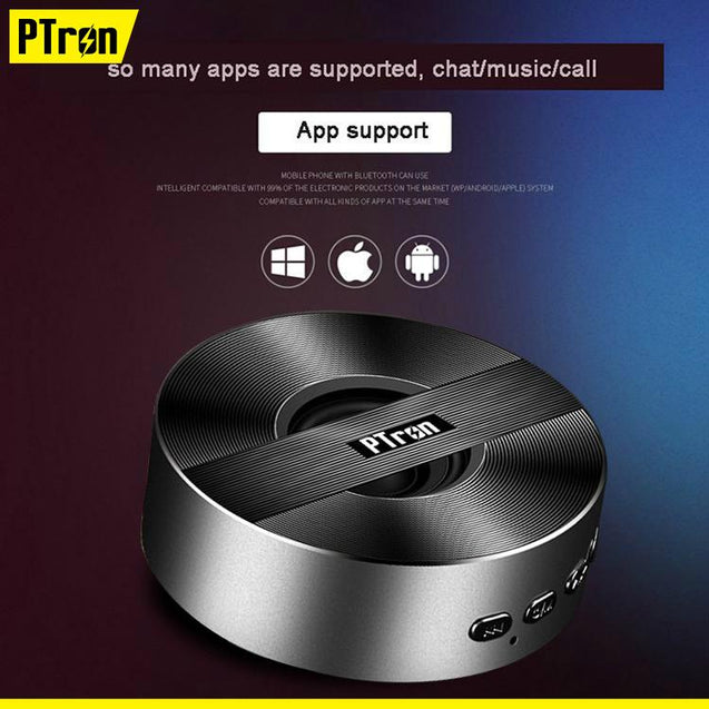 PTron Musicbot Mini Bluetooth Speaker Portable Wireless Speaker Support TF, USB For iphone 6 (Black)