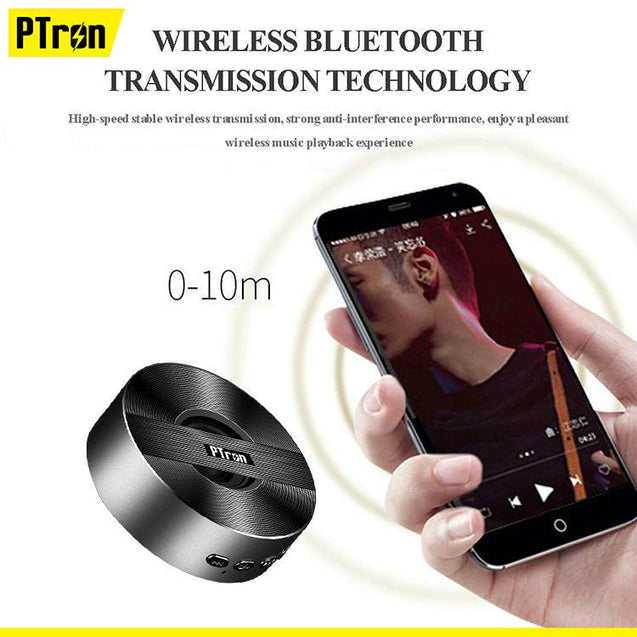 PTron Musicbot Mini Bluetooth Speaker Portable Wireless Speaker For Huawei Honor V10 (Black)