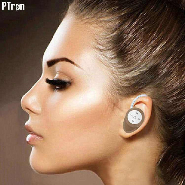 PTron Lynx Premium Quality Wireless Mini Bluetooth Headset For Xiaomi Mi5 (Gold)