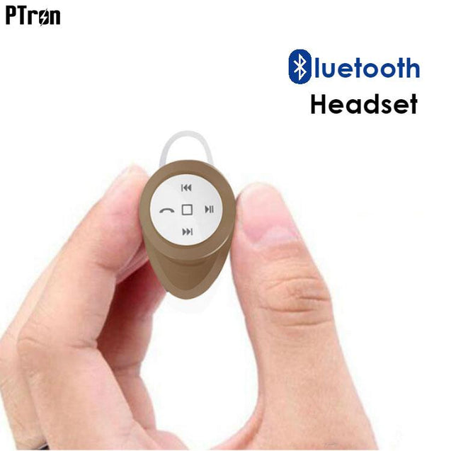 PTron Lynx Premium Quality Wireless Mini Bluetooth Headset For Xiaomi Redmi Note (Gold)