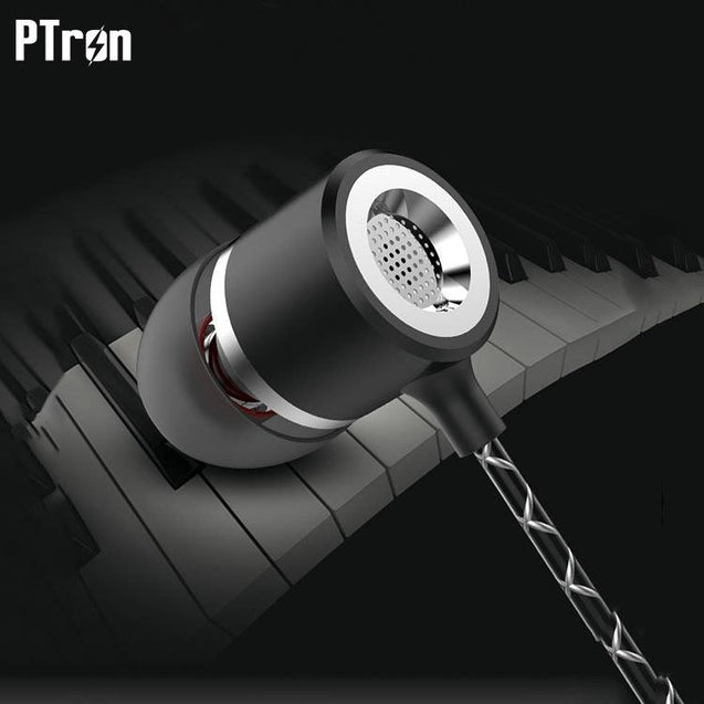 PTron Flux In-Ear Stereo Headphone with Noise Cancellation For All Micromax Smartphones (Black)