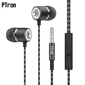 PTron Flux In-Ear Stereo Headphone with Noise Cancellation for All Gionee Smartphones (Black)