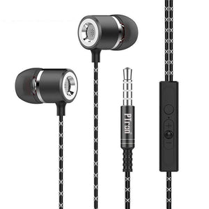 PTron Flux In-Ear Stereo Headphone with Noise Cancellation For All Lava Smartphones (Black)