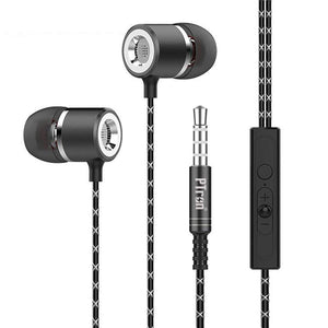 PTron Flux In-Ear Stereo Headphone with Noise Cancellation for Lenovo Vibe K5 Note (Black)