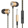 PTron Flux In-Ear Stereo Headphone with Noise Cancellation for All Smartphones (Gold)