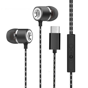 PTron Flux In-Ear Headphone With Noise Cancellation For All Type C Smartphones (Black)