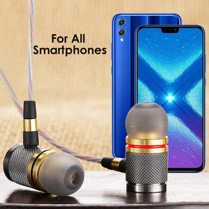PTron Aristo In-Ear Headphone With Noise Cancellation For All Smartphones (Gold)