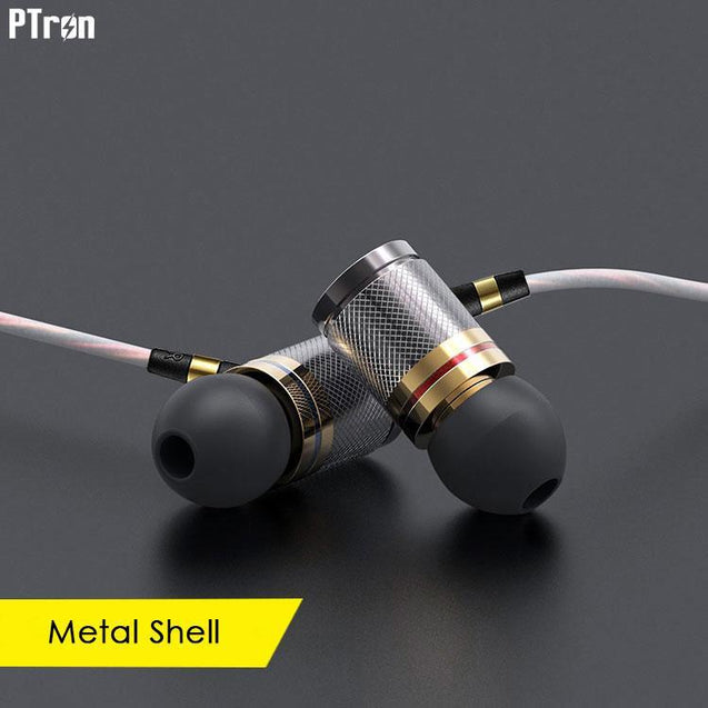 PTron Aristo In-Ear Headphone With Noise Cancellation For Xiaomi Redmi Note 3 (Gold)