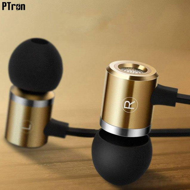 PTron Unison In-Ear Headphone With Noise Cancellation For All Sony Smartphones (Gold)
