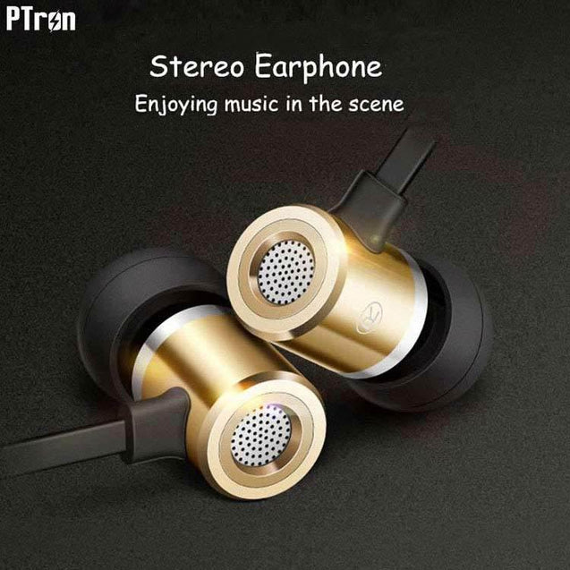 PTron Unison In-Ear Headphone With Noise Cancellation For Xiaomi Redmi 5A (Gold)