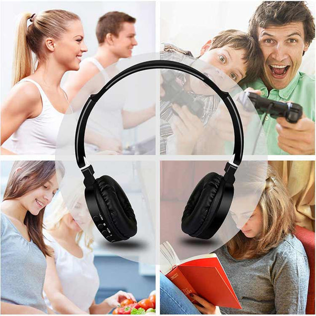 PTron Trips Bluetooth Headset Wireless Stereo Headphone With Mic For All Vivo Smartphones (Black)