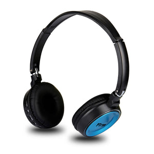 PTron Trips Bluetooth Headset Wireless Stereo Headphone With Mic For All Smartphones (Blue)