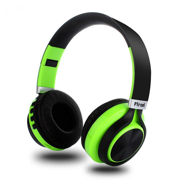 PTron Kicks Bluetooth Headset Wireless Stereo Headphone With Mic For All Smartphones (Green)