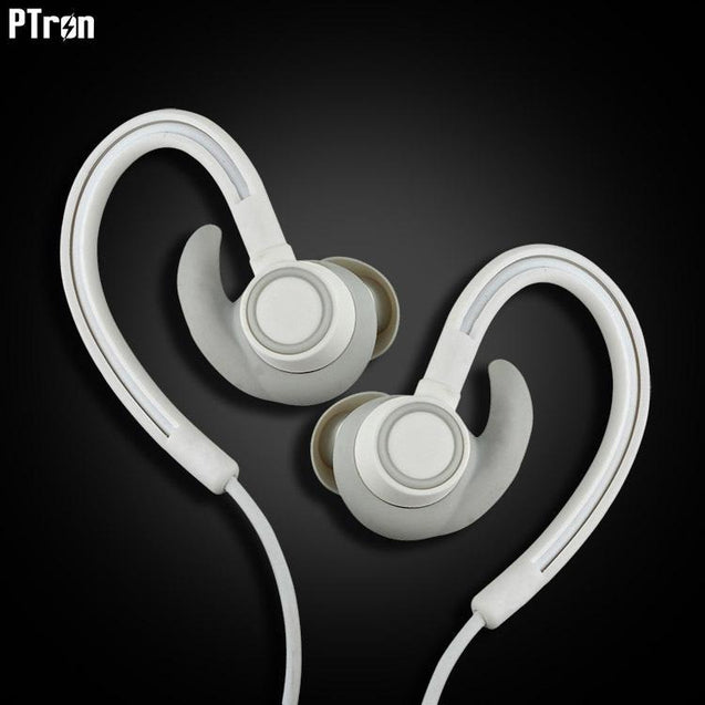 PTron Sportster In-ear Bluetooth Headset Wireless Stereo Earphones For All Asus Smartphones (White)