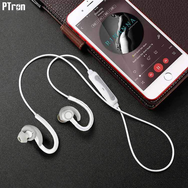 PTron Sportster In-ear Bluetooth Headset With Mic For All Xiaomi Smartphones (White)