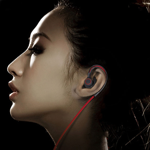 PTron Sportster In-ear Bluetooth Headset Wireless Stereo Earphones With Mic For Vivo V9 (Red)