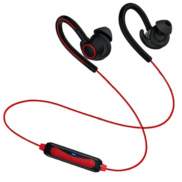 PTron Sportster In-ear Bluetooth Headset With Mic For Samsung Galaxy C7 Pro (Red)