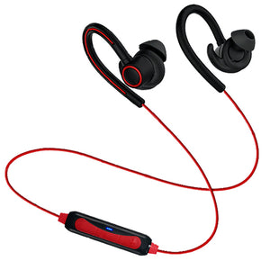 PTron Sportster In-ear Bluetooth Headset With Mic For Motorola Moto E4 Plus (Red)
