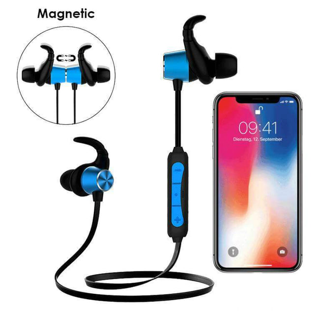 PTron Spark Pro In-Ear Bluetooth Headset Wireless Stereo Earphones With Mic For Xiaomi Redmi 5A Blue