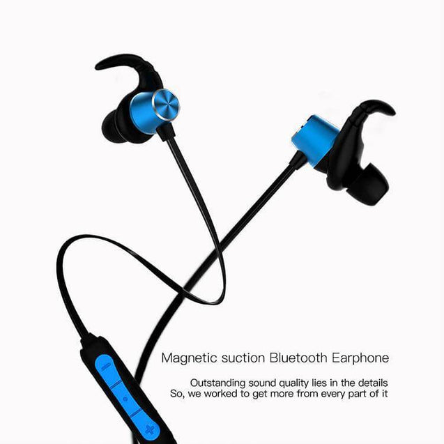 PTron Spark Pro In-Ear Bluetooth Headset Wireless Stereo Earphones With Mic For Xiaomi Redmi 4A Blue