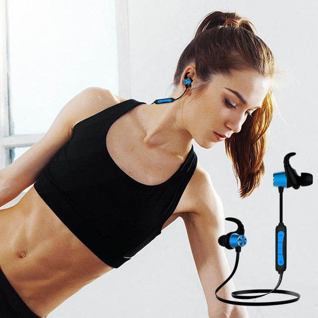 PTron Spark Pro In-ear Bluetooth Headset Wireless Stereo Earphones With Mic (Blue)