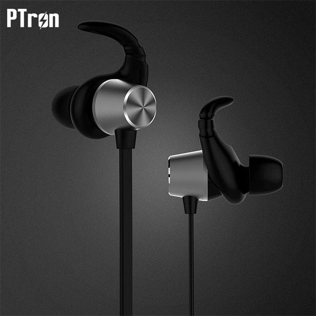 PTron Spark Pro In-ear Bluetooth Headset Wireless Stereo Earphones With Mic For Samsung J7 Pro Black