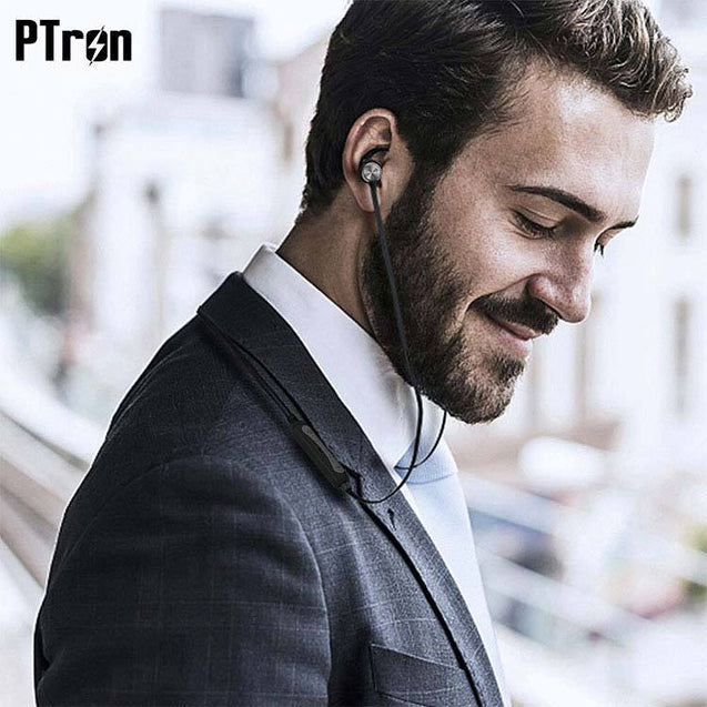 PTron Spark Pro In-ear Bluetooth Headset Wireless Stereo Earphones With Mic For Samsung j7 NXT Black
