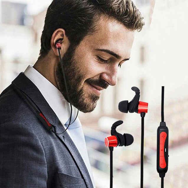 PTron Spark Pro In-ear Bluetooth Headset Wireless Stereo Earphones With Mic For Oppo F9 (Red)