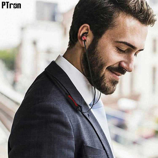 PTron Spark Pro In-ear Bluetooth Headset With Mic For All Lava Smartphones (Red)