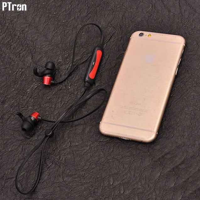 PTron Spark Pro In-ear Bluetooth Headset With Mic For Samsung Galaxy J7 Prime (Red)