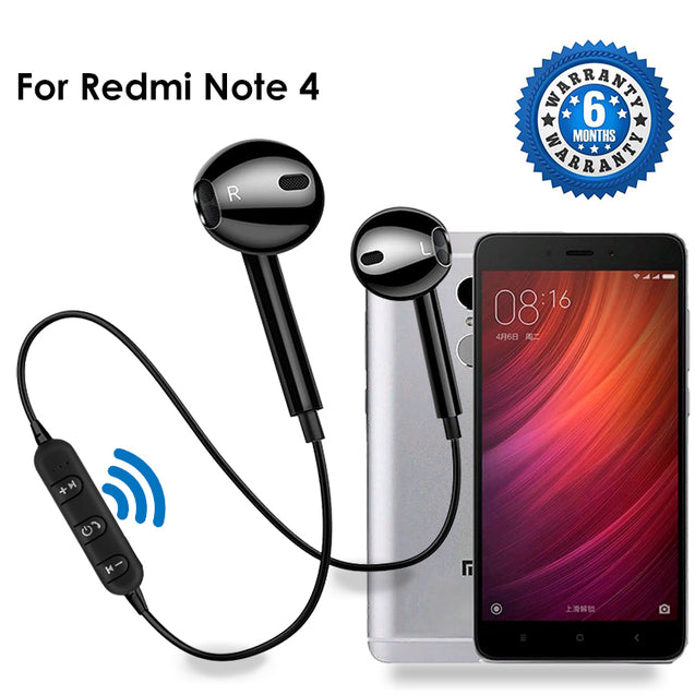 PTron Avento Bluetooth Headphones In-Ear Wireless Earphones With Mic For Xiaomi Redmi Note 4 (Black)